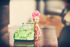 Barbie's car (skvsree) Tags: barbie car coimbatore ben10 toy canon t2i 550d helios helios44m splittone color