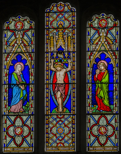 Harlaxton, Ss Mary & Peter church window