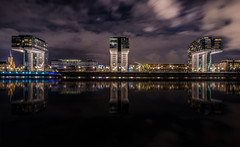 Kranhuser Cologne (Explored 12-10-2016) (mcalma68) Tags: germany kranhauser nightphotography longexposure architecture