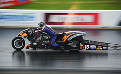 Neil Midgley (Fast an' Bulbous) Tags: drag bike motorcycle supertwin nitro header flames santa pod england harley davidson fast speed power strip race tracl engand october nikon d7100 gimp outdoor people biker cannonengineering rider