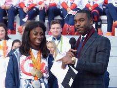 Kadeena Cox and Ore Oduba (Suede Bicycle) Tags: olympics rio rioolympics rio2016 olympicgames heroeswelcome trafalgarsquare summerolympics olympicparade paralympics rioparalympics