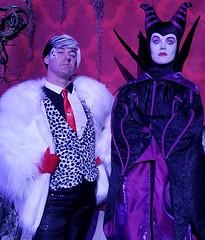 Sean Brown with Maleficent (Halloween in Oz) Tags: seanbrown cruella maleficent mickeyshalloweenparty2016 halloween halloweencostume