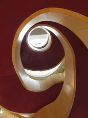 Spiral staircase (rbjag71) Tags: spiral staircase stairs modernarchitecture theatreroyal glasgow canonpowershot sx610hs