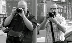 The way they were (* RICHARD M (Over 5 million views)) Tags: ian terry ianhughes terrydonnelly redpillphoto theredpill friends flickrfriends flickrites togs photographers cameras street candid portraits portraiture streetportraits streetportraiture candidportraits candidportraiture monochrome mono blackwhite southport sefton merseyside specs spectacles glasses eyeglasses twoofakind