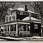 "<b>Campus House</b><br/> Orville Running, LFAC# 2012.08.35, Woodcut, Print<a href=""http://farm9.static.flickr.com/8420/8699461514_c799ee7cce_o.jpg"" title=""High res"">∝</a>"