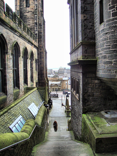 Stairs by Church of Scotland General Assembly Hall, Edinburgh