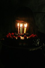 Sole's cake (-zee) Tags: birthday lighting cake dark candles natural chocolate wishes raspberries blackberries leparody soleparody