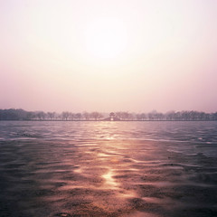 Sunset in Summer Palace (Jimmy Tsang) Tags: china sunset 120 6x6 film rollei rolleiflex mediumformat square beijing 66 medium  summerpalace fujichrome provia e6  planar  100f rdp carlzeiss 28f rdpiii rolleiflexplanar28f