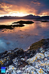 Sunset over The Cuillins from Ord Bay (Tom Dauben) Tags: longexposure sunset sea sky mountains clouds canon eos bay rocks soft isleofskye ridge 09 7d 1750 loch 06 grad tamron ord f28 cuillinhills cuillin blaven blabheinn sgurralasdair marsco lochcoruisk sgurrnangillean thecuillins lochslapin lochscavaig leefilters neutraldensitygrad ndg09 sgurnaneag