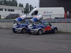 Duo de Mini Cooper Red Bull de novembre 2009 AG 910 LP & AG 964 LP - 22 mai 2013 (Rue Joseph Cugnot - Joue-les-Tours) (Padicha) Tags: auto new old bridge france water grass car station electric truck river french coach ancient automobile eau indre may police voiture ruine cher rest former 37 nouveau et loire quai franais nouvelle vieux herbe vieille ancienne ancien fleuve nationale vehicule lectrique reste gendarmerie gazon indreetloire franaise pave nouveaut vhicule utilitaire restes vgtalise letramdetours padicha
