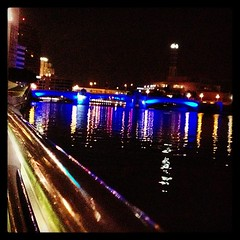 Tampa Riverwalk (artsnark2) Tags: bridge reflection night river tampa square lights florida squareformat mayfair riverwalk hillsboroughriver curtishixonpark iphoneography instagramapp uploaded:by=instagram foursquare:venue=4b5b0d53f964a520f5e028e3