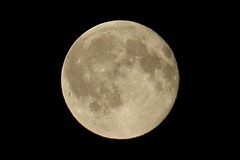 Full Moon (DaveJC90) Tags: camera light shadow summer sky moon holiday black hot colour detail beautiful beauty night digital dark lens nikon warm colours bright zoom july super sharp full craters crater crop round planet coolpix phase oval complete croped sharpness 450mm s9100