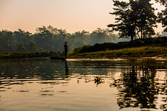 Chitwan Boat Ride (aaron.beitzel) Tags: nepal chitwan safari park river water boat canoe nepali tourist trekking canon 50mm forest jungle asia himalayas tarai