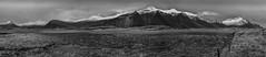 South East Iceland Panorama (Nick L) Tags: hofn eastofhofn southerniceland southeasticeland mountain mountains sno ice clouds blackandwhite bw panorama pano route1 canon5d3 canon 5d 5d3 eos 2470li canon2470li nature iceland landscape