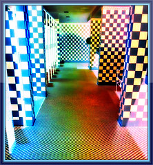 CHECKERBOARD TILES ON WALLS AND FLOOR (Visual Images1) Tags: hss slidersunday tiles theatre