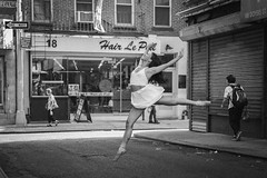 Stepping Out (cvillandry (Instagram & Twitter @cvillandry)) Tags: doyersstmanhattan ballet chinatown dance dancer newyork nyc pointe streetphotography