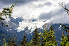 Alyeska Glacier (R.N.S.) Tags: glacier ak alaska alyeska mountain mountains nature landscape snow ice rock majestic clouds cloud tree trees evergreen spruce girdwood outdoor