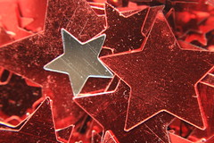 Stars (lorenzhome) Tags: macromondays star stars silver red sterne rot silber textures