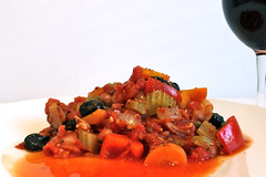 Red Pepper and Borlotti Bean Casserole (karenlakeman) Tags: red pepper redpepper vegan vegetarian recipe recipes healthy veganrecipes borlottibeans beans capsicum nongmofoodworld sansogm gentechnikfrei
