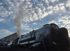 Great Central Railway Loughborough Leicestershire 27th August 2016 (loose_grip_99) Tags: greatcentral railway railroad rail gcr locomotive leicestershire steam train engine britishrailways standard pacific 462 britannia 70013 olivercromwell preservation transportation gassteam uksteam trains railways august 2016 92214 9f 2100