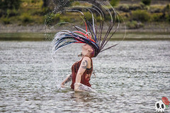 _MG_9955 (Deadly Darling DP) Tags: dreadlocks gothic goth woman chick water river tattoos makeup hairflip flip hair