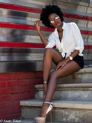 Hot Sunday (estellerobertnyc) Tags: brooklyn nyc newyork africanqueen afrohair blackbeauty blackhair diner ete hot portrait summer sunday