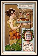 Liebig Tradecard S764 - Serving a Roast (cigcardpix) Tags: tradecards advertising ephemera vintage liebig chromo artnouveau