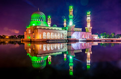 Kota Kinabalu City Mosque (redsk82) Tags: kotakinabalucitymosque kotakinabalu mosque malaysia islam religion reflection sunset water landscape cityscape