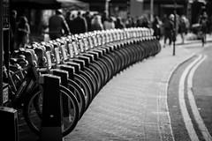 The Cycle Circle (SimplSam) Tags: bikes bricklane london panasoniclumixg7 street line bikehire curve circle people bokeh dof
