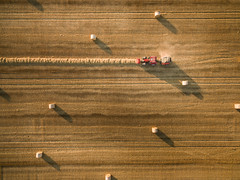 Haymaker (Draws_With_Light) Tags: vegetation aerialphotography vehicles landscape season tractor agriculture northyorkshire drone scene fields djiphantom3advanced summer camera wheatfields york places england unitedkingdom gb harvesting activity
