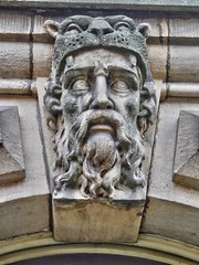 Stone Faces, Leeds Town Hall, UK, 27082016  JCW1967, OPE, HDR (9) (jcw1967) Tags: leedstownhall stonefaces carvedheads architecture historical hdr oloneo