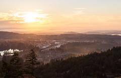 Sunrise at Mount Wells (Andrew Coderre Photo) Tags: explorebritishcolumbia victoria canon hiking hikingvancouverisland westhillshomes westcoast vancouver lglass luckylager takeahike andrewcoderre andrewcoderrephoto andycoderre august vancouverisland vancouverislanduniversity viu