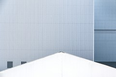 537 (Stadtromantikerin) Tags: urban grafisch graphical grey blue industriehallen industrial gebude buildings geometry geometrie lines