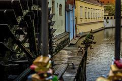 Alguien sigue esperando... (Fabiola Len Moreno) Tags: praga prague duende agua molino ro candados elf lock watermill malastrana