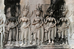 Devatas in Inner Gallery of Angkor Wat No.1 (meg williams2009) Tags: cambodia siemreap temple heavenlycreatures devata basrelief stonesculpture angkorwat khmerart stonesculptures devatas unescoworldheritage