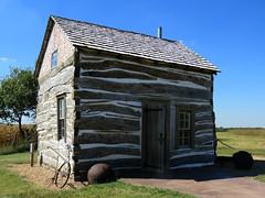 Little house on the prairie (jimsawthat) Tags: logs logcabin historic residence relocated rebuilt architecture rural beatrice nebraska homesteadnationalmonument