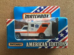 Matchbox MB 1 - 75 Series - American Editions -  Paramedic Ambulance - Miniature Diecast Metal Scale Model Emergency Services Vehicle (firehouse.ie) Tags: 1983 ambulanzia ambulanza ambulanz ambulancia krankenwagen ambulances paramedics emt ems models toys miniature metal diecast coche vehicle model toy ambulance paramedic americaneditions matchbox