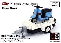 Cover_19_City_Beetle_Vespa (LA-Design2012) Tags: lego custom moc city creator expert beetle 10252 custombricks trailer anhnger vespa roller