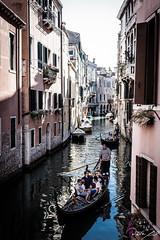 2016-08-10_Venedig - Venice - gritty version_IMG_7876 (dieter_weinelt) Tags: bluesky brcken dieter fiona gondeln kanal kanle melanie sommer2016 sonnenschein touristen venedig venice victoria blauerhimmel boats boote bridges canals gondolas summer2016 sunshine tourists