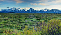 sunset on willow flats grand teton national park wyoming (Mferbfriske) Tags: grand tetons sunset willow flats wyoming national park
