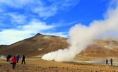 Hverarond: fumarolas y ollas de lodos hirvientes.Islandia. (lameato feliz) Tags: fumarola hverarond hverir islandia montaa