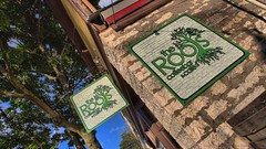 The Roots Coffeebar & Cafe Waukesha WI by sheldn (2sheldn) Tags: roots cafe waukesha wi sheldn tree sign downtown canon t5i hdr copyrightdanieljsheldon coffee coffeebar shop food restaurant topaz topazlabs store front storefront blue sky building outdoor architecture