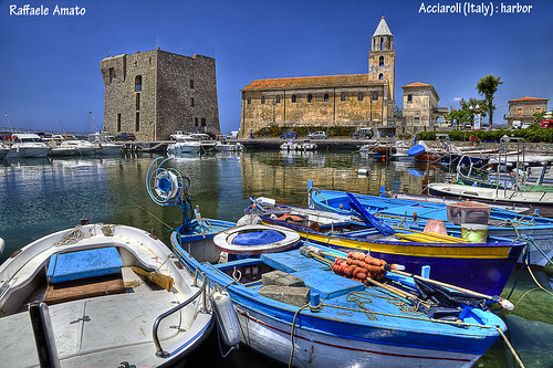 Acciaroli village, cilento national park, italy : harbor