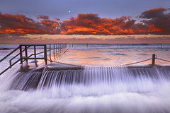 Rush (stevoarnold) Tags: ocean sunset water clouds waves sydney australia nsw newsouthwales cronulla sutherlandshire crockpool
