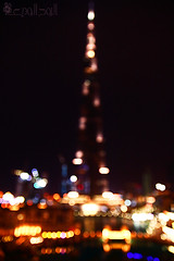 burj khalifa - out of focus (~   ~) Tags: night out hotel focus downtown dubai bokeh khalifa address burj