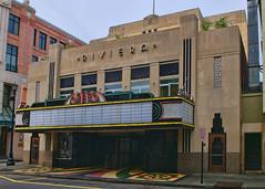 Riviera (Pete Zarria) Tags: cinema film sign movie marquee neon review palace charleston hollywood southcarolinatheater