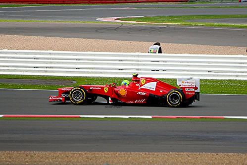 Felipe Massa in his Ferrari at Silverstone
