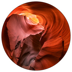Arcing - Lower Antelope Canyon (Jim Patterson Photography) Tags: light arizona beauty underground landscape sandstone desert nation scenic fisheye nativeamerican page land navajo circular slotcanyon peleng8mm lowerantelopecanyon jimpattersonphotography jimpattersonphotographycom seatosummitworkshops seatosummitworkshopscom nikond800e