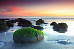 Green stone on the beach (Explore front-page 07/18/2012) (.Gu) Tags: longexposure sunset green stone rocks explore shore frontpage steinar strnd sandur slarlag explored grnn gu ogud imagicland mygearandme mygearandmepremium mygearandmebronze mygearandmesilver mygearandmegold mygearandmeplatinum mygearandmediamond mygearandmediamondselection olafurragnarsson
