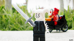 Week 29 (chrisofpie) Tags: chris project pie toy toys outdoors funny lego jester lol liam legos hero knight brave heroes minifig weeks mime 52 minifigure righteous minifigures 52weeks stunningphotography legohero whitejester chrisofpie 52weeksofliamthemime righteoussword